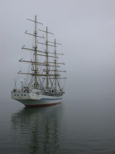 Segelschulschiff Mir vor List auf Sylt
